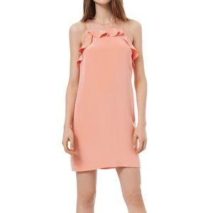 Rebecca Taylor Organza Ruffled Silk Dress